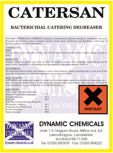 image of Catersan kitchen degreaser used as oven cleaning hot oven wash